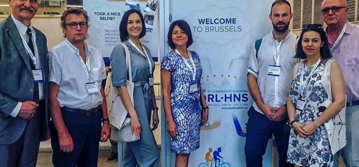 Наши врачи выступили  с докладами на 5 Европейском конгрессе оториноларингологов и хирургов головы и шеи в Брюсселе (Бельгия)