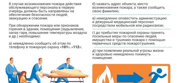 Инструкции о действии медработника в случае пожара на работе